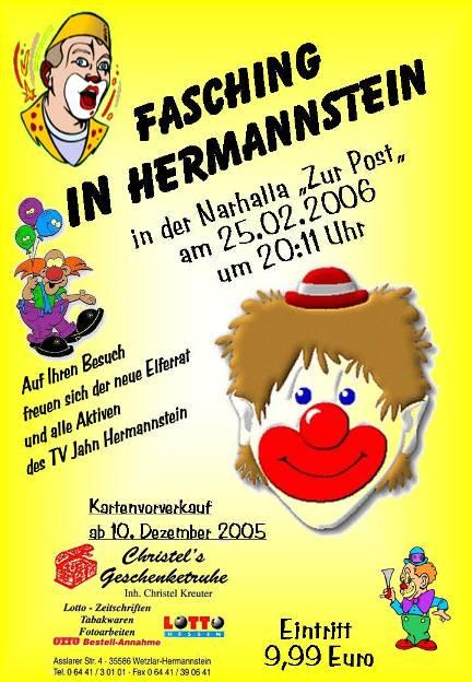 Einladung Für Fasching 2006 .